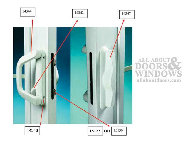 Milgard V 4 Latch Double Locking Handle 1 7 16 Thick Door