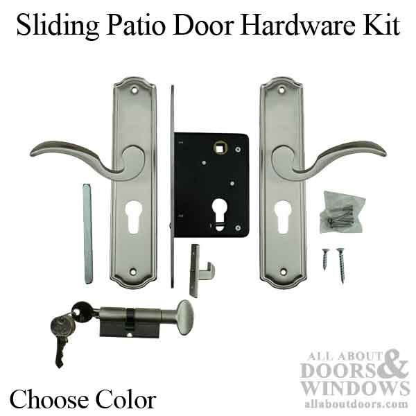 California Classic Replacement Sliding Patio Door Hardware Kit Choose Color
