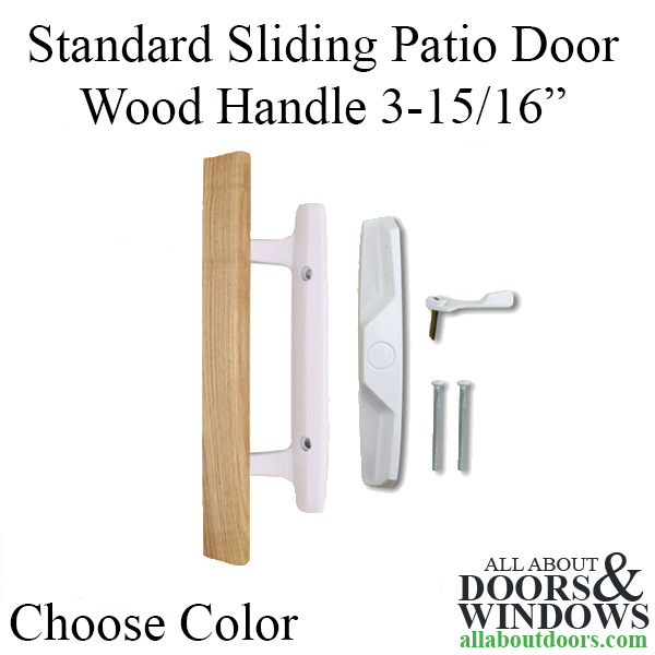Standard Sliding Patio Door Wood Handle Outside