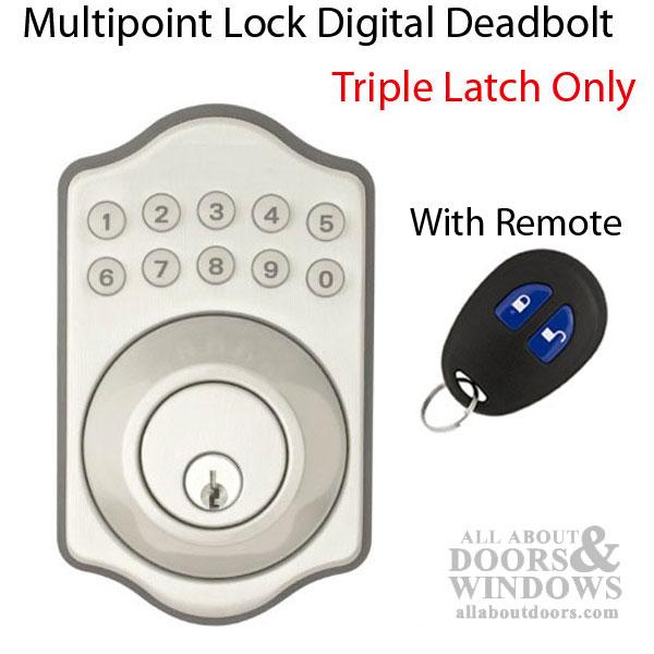 Keyless Multipoint Lock Deadbolt With Digital Keypad