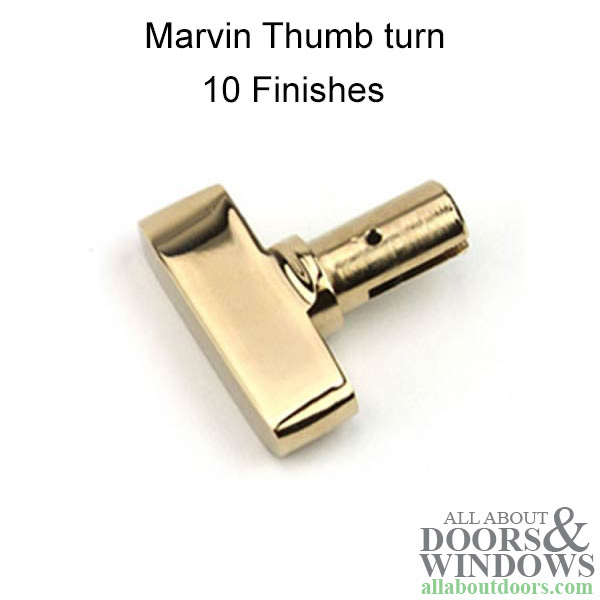 Marvin Thumb Turn Only Patio Door Hardware