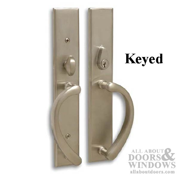 Expressions Wide Square Active Keyed Sliding Door Handle