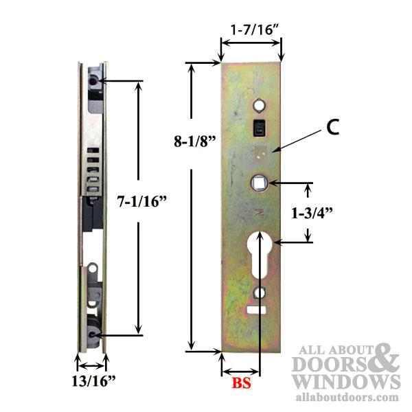 Certainteed Sliding Door Lock 22 5mm Euro Style Multi 2