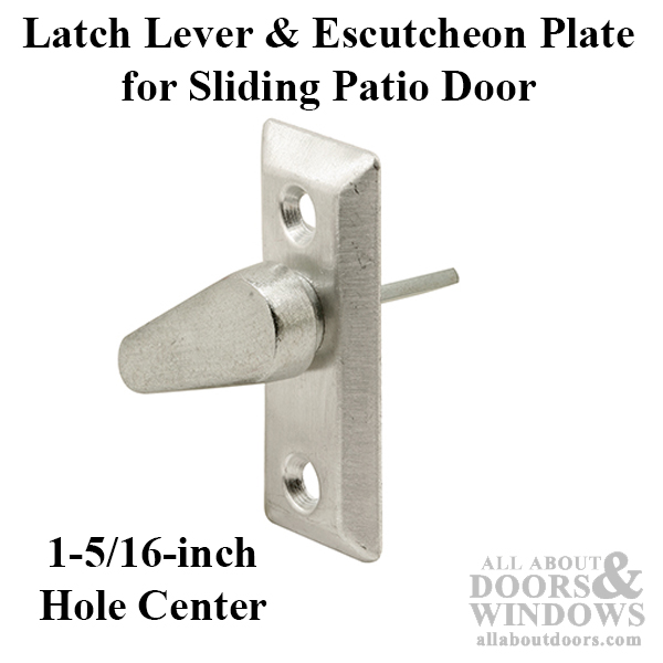 Latch Lever Amp Escutcheon Plate Sliding Patio Door
