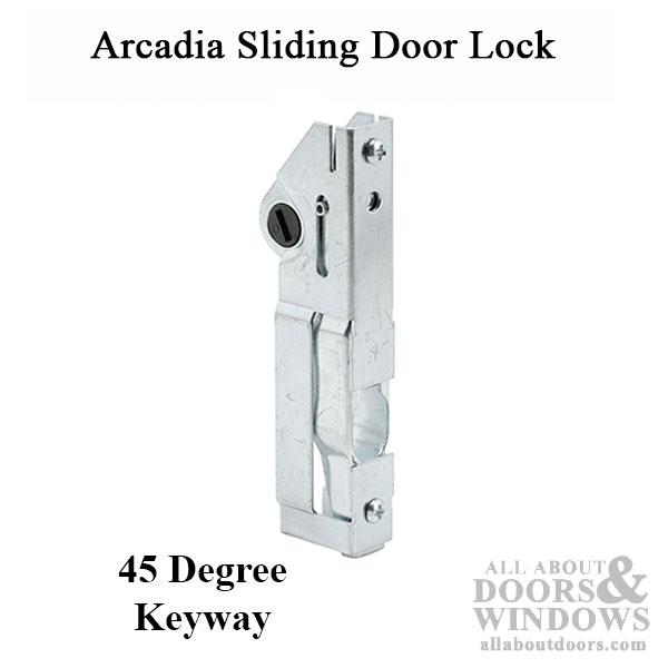 Northrop Arcadia Sliding Patio Door Lock Mortise Lock Latch