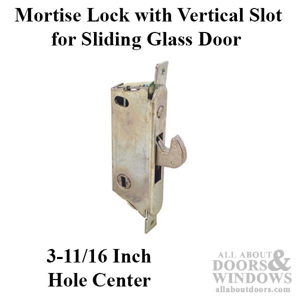 Adams Rite Mortise Lock Vertical Slot Sliding Patio Door Angled