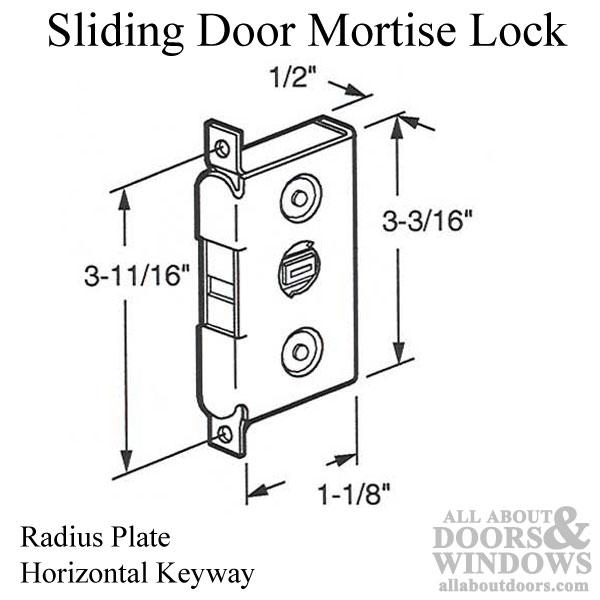 Mortise Lock For Sliding Door Horizontal Keyway Radius