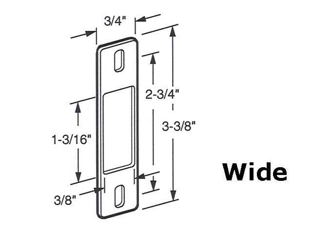 Surface Mount Steel Keeper For Sliding Glass Door