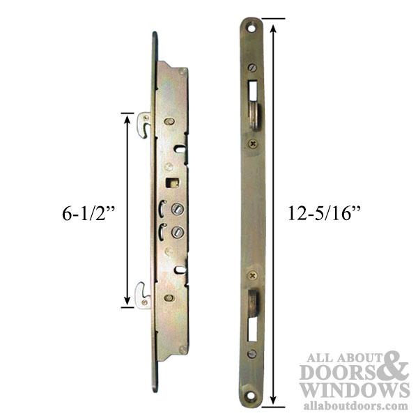 2 Point Double Hook Sliding Door Lock Mortise Latch Long