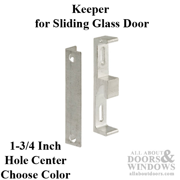 Black Diecast Prime-Line Products E 2047 Sliding Door Keeper with Bracket