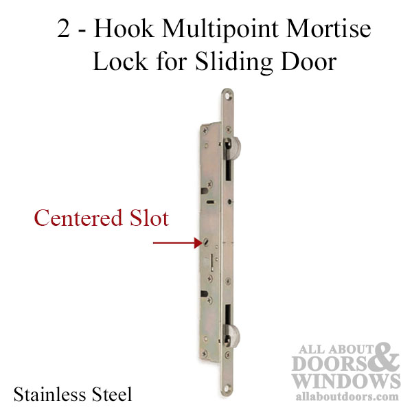 2 Hook Sliding Door Lock 11 3 4 Face No Slam Pin Beige