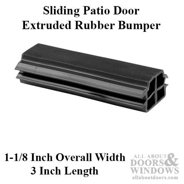 Bumper Sliding Patio Door Extruded Rubber Bumper Black