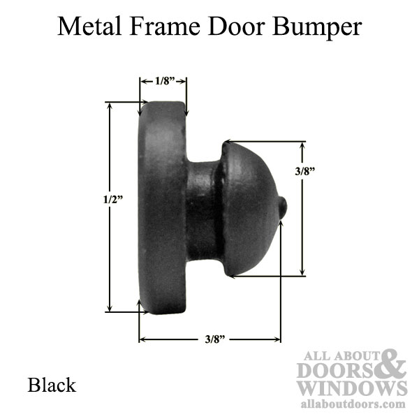 Bumper Stopper Or Door Silencer For Metal Frames In Black