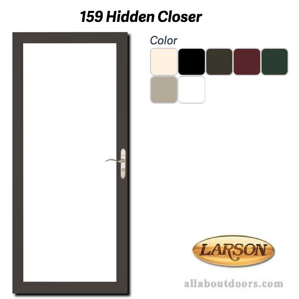 Larson Premium Clear Full View Storm Door With Hidden Closer
