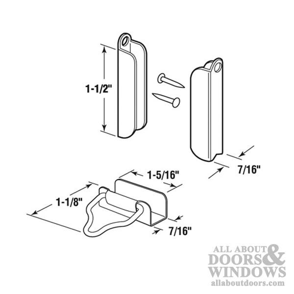 Window Screen Hangers And Latches 7 16 Quot Aluminum