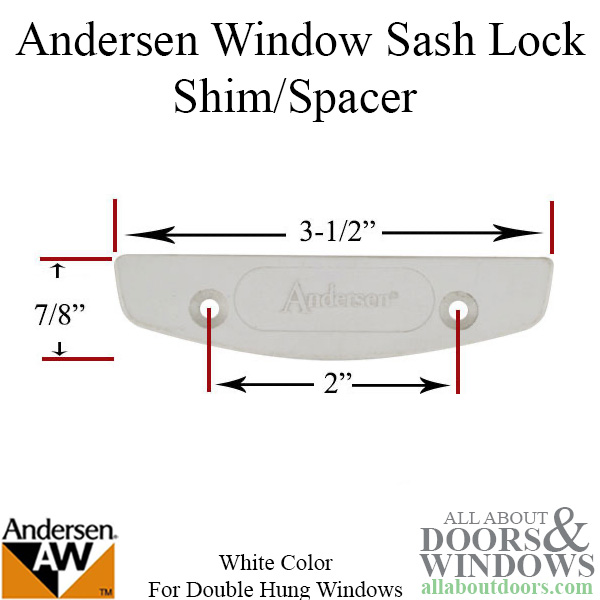 Shim Spacer Andersen Double Hung Sash Lock White