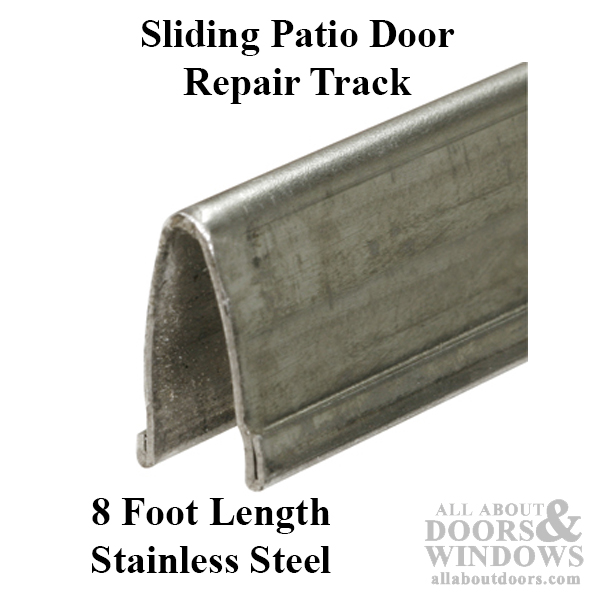 Patio Glass Door V Track 916 In Width 8 Ft Length Stainless Steel