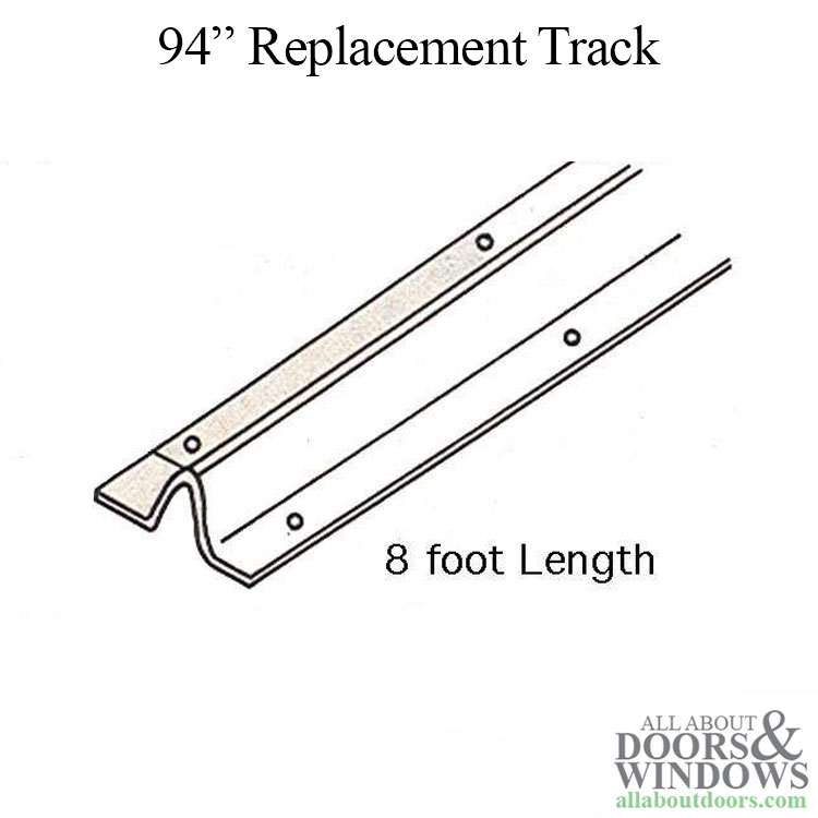 Patio Door Replacement Track 96 Inch Stainless Steel