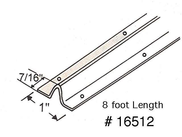Patio Door Replacement Track 96 Inch Stainless Steel