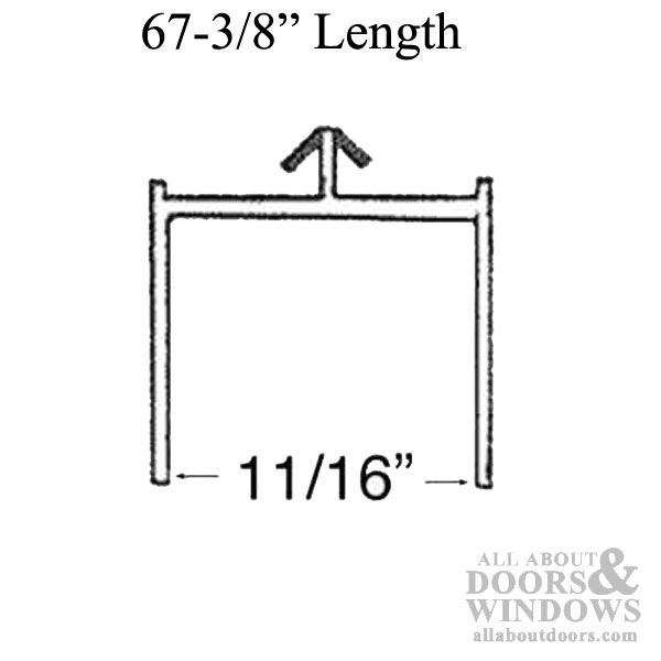 Screen Channel Head Track Sliding Door 67 3 8 Length White
