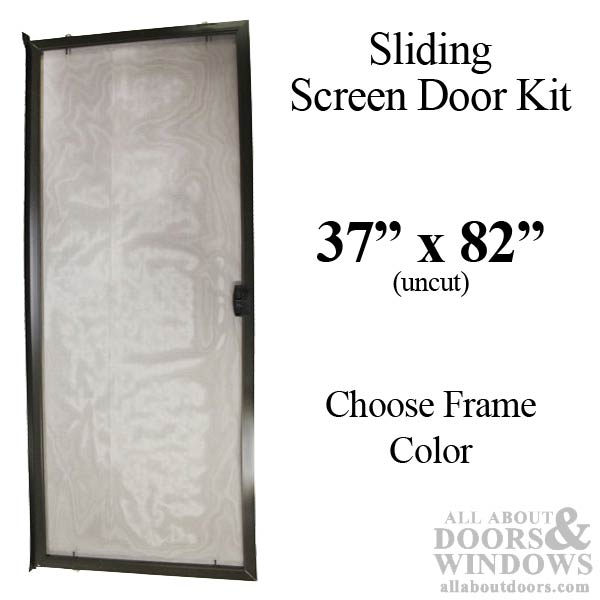 Sliding Screen Door Kit 37 Quot X 82 Quot Aluminum Frame Choose