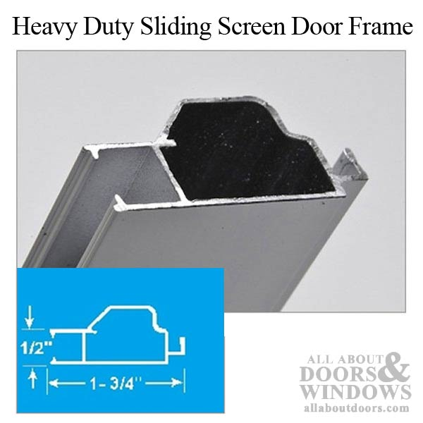 48 Quot X 81 Quot Sliding Screen Door Kit Aluminum Frame With Screen Material
