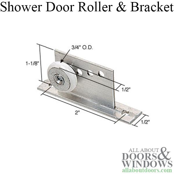 Shower Door Bracket W 3 4 Inch Oval Roller Sliding Door