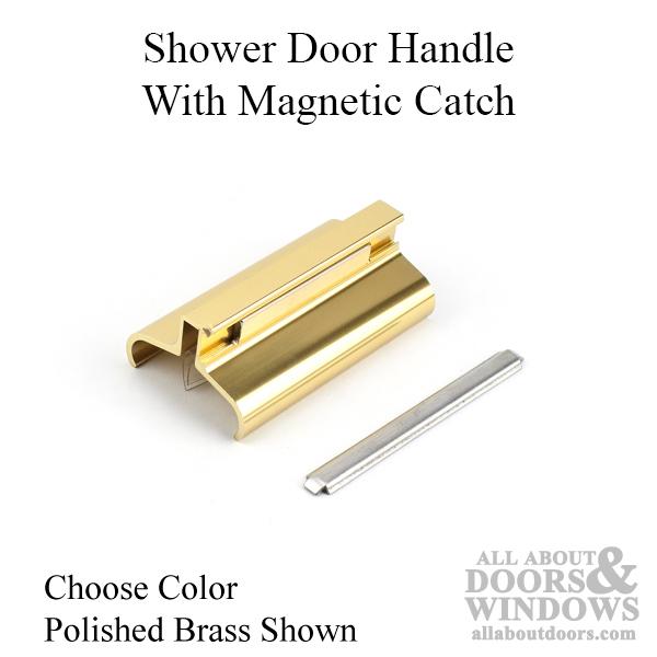 Shower Door Handle W Magic Catch Choose Color