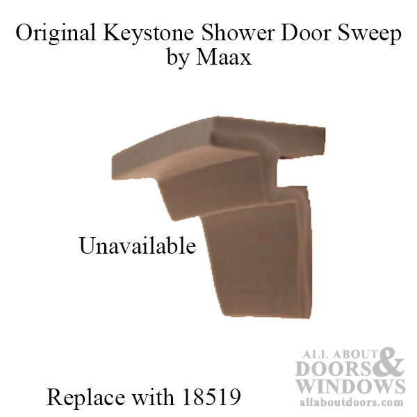 Replacement Shower Door Bottom Vinyl Seal Sweep Keystone