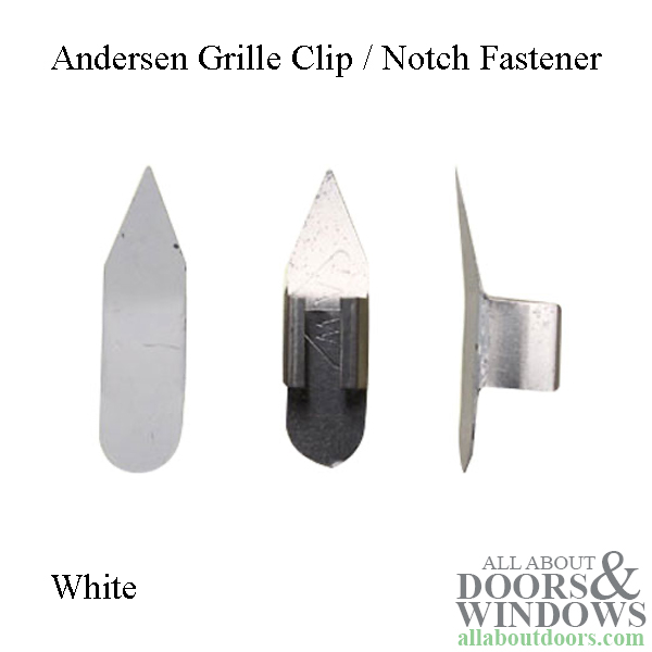 Andersen Window Grille Clip Notch Fastener 1989