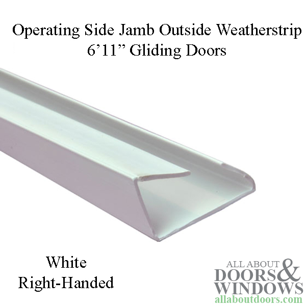 Andersen Perma Shield Gliding Door Side Jamb Weatherstrip Outside Operating Rh Ps611 White