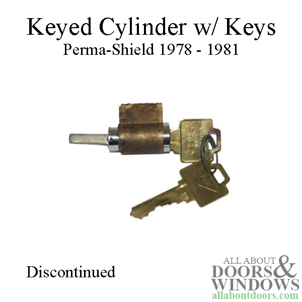 Keyed cylinder Only, 2 Keys- Andersen Door Parts