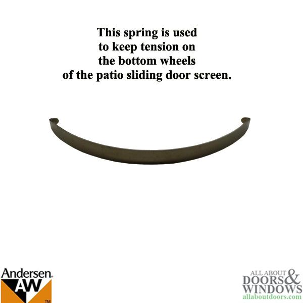 Andersen Sliding Screen, Upper Spring - Universal Patio Door