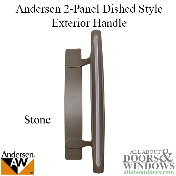 Handle Exterior Andersen 2 Panel Dished Style Stone