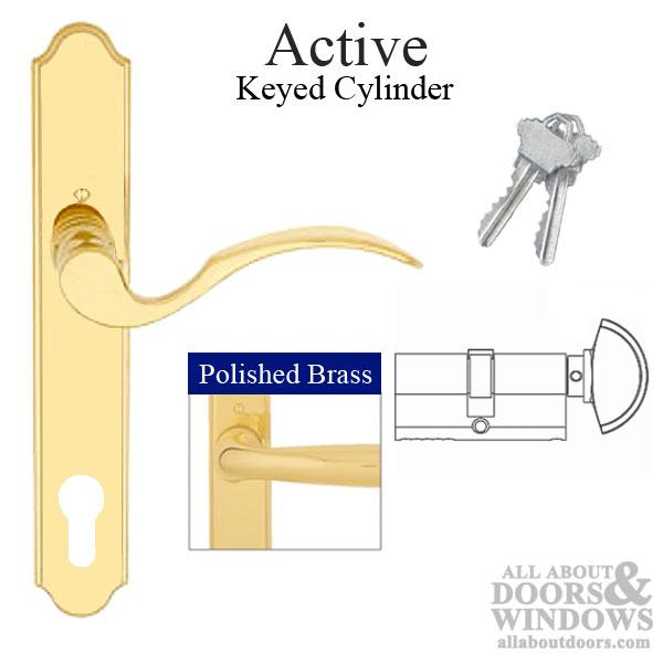 Hoppe Handle Set Brass Door Handle Set All About Doors
