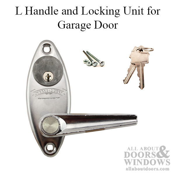 Overhead Door L Handle And Keyed Locking Unit For Garage Door   Chrome