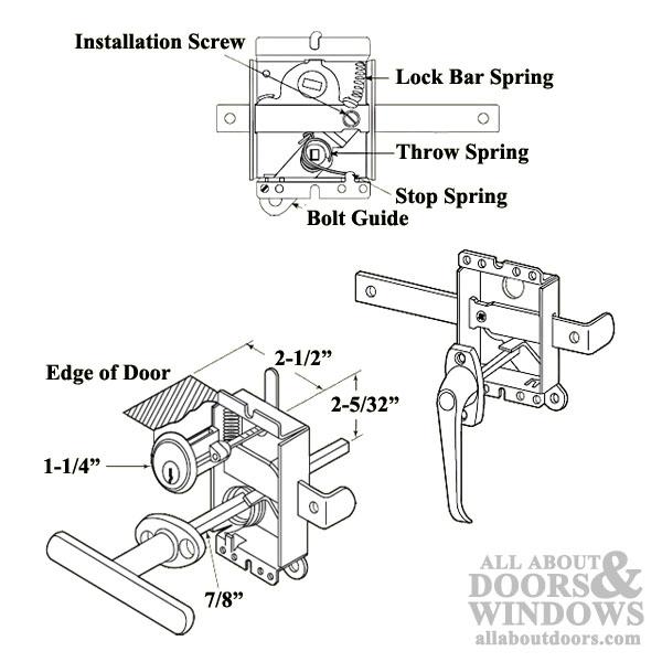 Heavy Duty Spring Loaded Side Lock With Latch Bolt Release