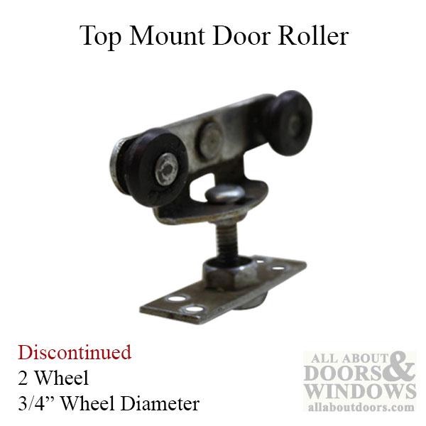 2 Wheel 3 4 Inch Dia Top Mount Closet Door Roller