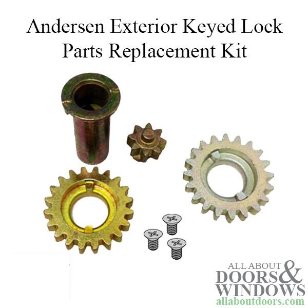 Andersen Exterior Keyed Lock Parts Replacement Kit