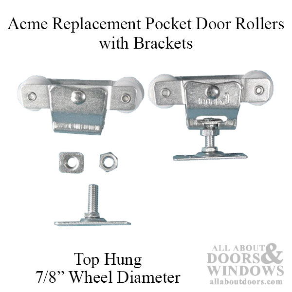 Pocket Door Rollers >> 4 Wheel 7 8 Dia Top Hung W Carrier Acme Cox
