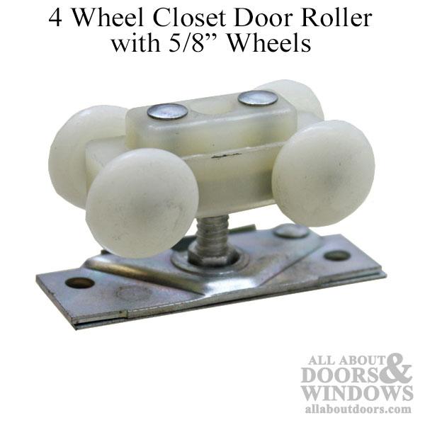 4 Wheel Closet Door Roller With 5 8 Inch Wheels