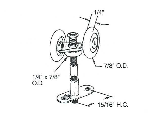 Prime-Line Products N 6534 Top Mount Bi-Fold Door Tandem Roller with 7//8-Inch...