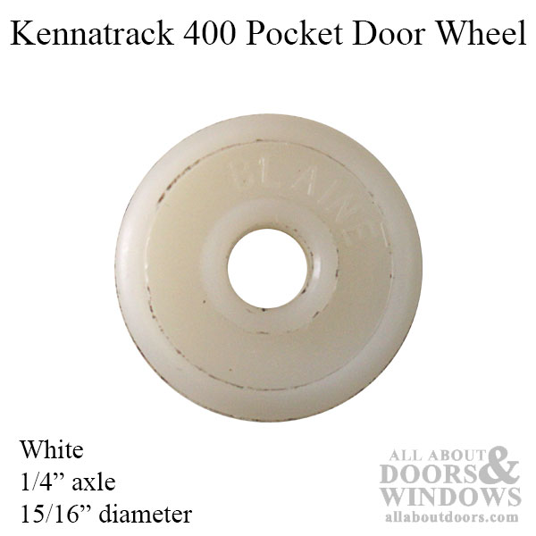 Kennatrack 400 15 16 Pocket Door Wheel White