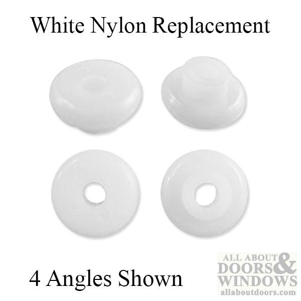 Kennaframe 3 4 Inch Diameter Pocket Door Wheel Only White