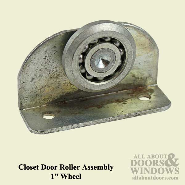Steel Roller Assembly With 1 Inch Steel Wheel For Sliding Closet Door