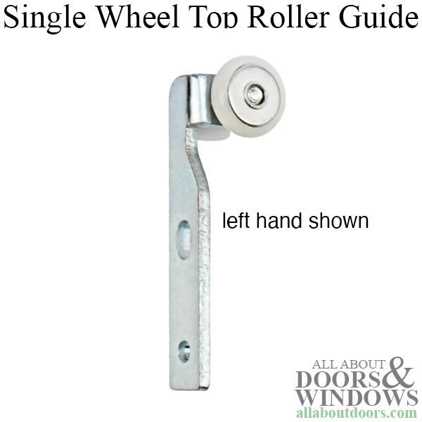 Single Wheel Top Roller Guide For Pocket Door 3 4 Inch Diameter