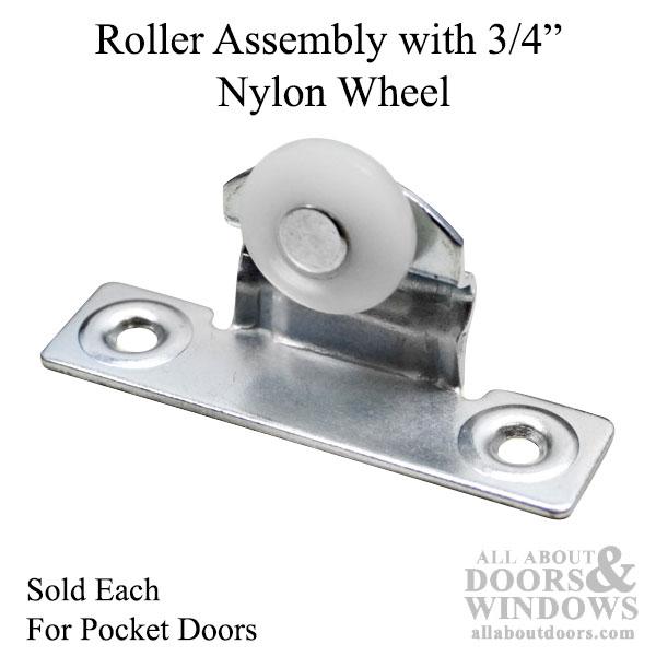 Pocket Door Rollers >> Roller Assembly With 3 4 Inch Nylon Wheel For Pocket Door