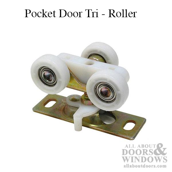 Tri Roller For Pocket Door 1 Inch Wheels