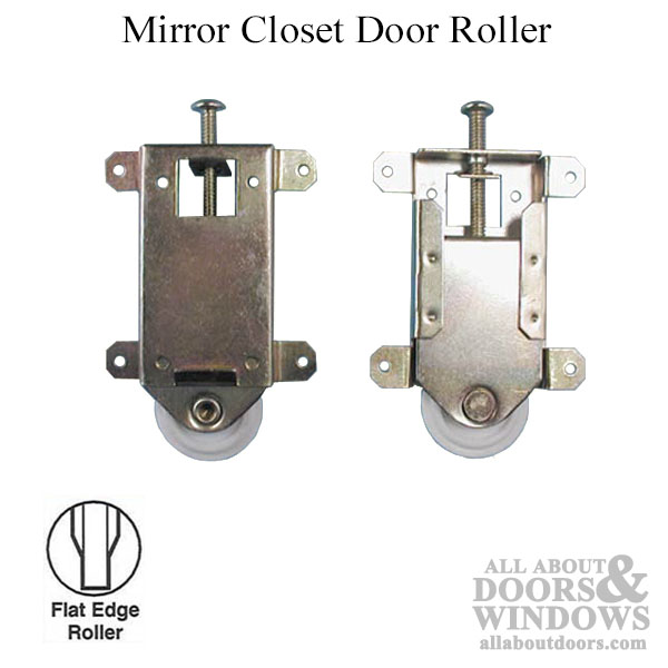 half off a5d8d 8b0d6 Mirror closet door roller 1 3/4 Flat Nylon Wheel - Wardrobe Door