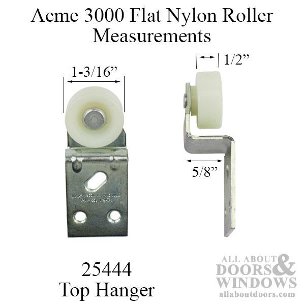 1 3 16 Inch Wheel 5 8 Offset Wide Flat Nylon Roller